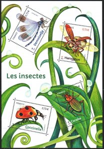 France. 2017. 6749-52. Insects, ladybug, dragonfly. MNH.