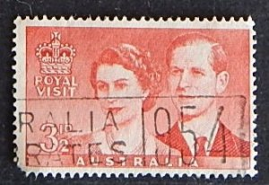 Royal Visit, Australia, 1954 MC: 242; SC: 267; YT: 2. (1396-T)