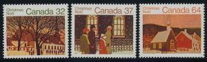 Canada 1004-6 MNH Christmas, Art, Church