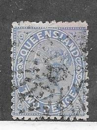 Australia-Queensland  #58  2p Queen Victoria  (U) CV $5.00