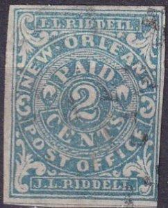 Confederate States #62X1 F-VF Used  CV $800.00  (Z3094)