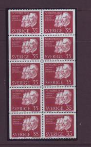 Sweden Sc806a 1968 Nobel Prize stamp bklt pane NH