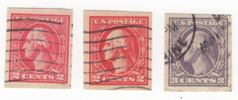 US used offset Washington & Franklins