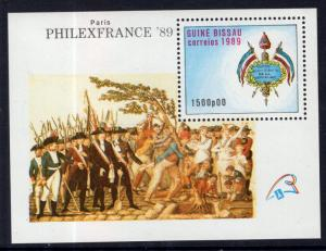 Guinea-Bissau MNH S/S 810 Military Arms France SCV 5.00