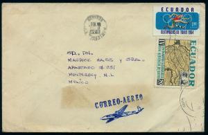 ECUADOR 723, C433 On Air Mail cover to Mexico. (53)