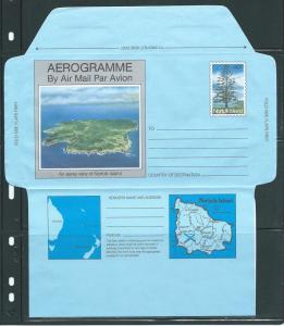 Norfolk Islands Postal Stationery Airletter 40c Tree Mint