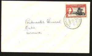 GILBERT & ELLICE IS 1965 local cover ABAOKORO to  PMG at Betio.............85093