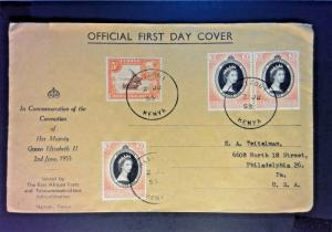 KUT 1953 Coronation Cover to USA / Nairobi Canceled - Z823