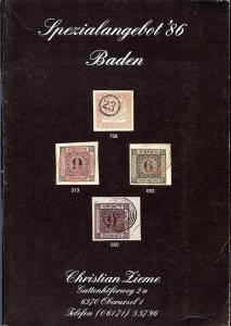 Zieme:    Spezialangebot '86, Christian Zieme - August 1986
