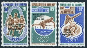 Dahomey C170-C172,C172a,MNH.Michel 499-501,Bl.20. Olympics Munich-1972,winners.