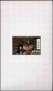 MISSISSIPPI #30AN 2005 STATE DUCK BLUE WINGED TEAL HUNTER TYPE Joe MacHudspeth