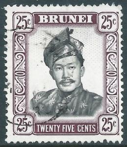 Brunei, Sc #92, 25c Used