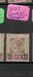 SEYCHELLES  (P2605B)  QV    36C/45C   SG  27   SHORT N   MOG