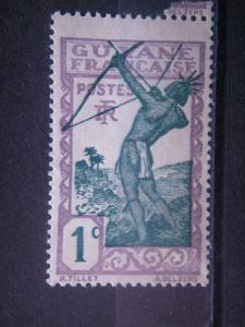 FRENCH GUIANA, 1929, MNH 1c, Scott 109
