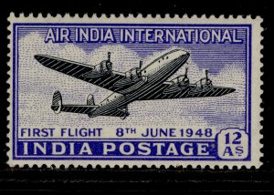 INDIA GVI SG304, 12a black & ultramarine, NH MINT.