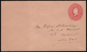 MALACK U369 Superb, entire, addressed in pen w8454