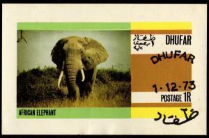 Dhufar - Cinderella Souvenir Sheet 1973 (Elephant)
