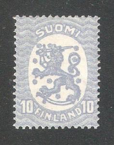 Finland 1927,Swastika wmk,Sc 127,VF Mint Hinged*OG (NR-8)