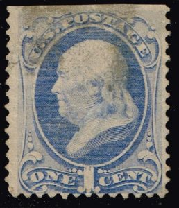US STAMP #156 1c 873 Continental Bank Note UNUSED NG THIN Stamp