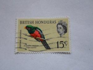 BRITISH HONDURAS STAMP  USED HINGE MARKS # 16