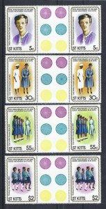 1981 St Kitts Girl Guide 50th anniversary gutter pairs 'traffic lights'