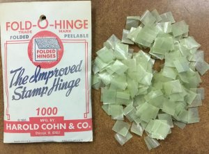 Vintage Opened PACK of 1000 Harco FOLD-O-HINGES , peelable