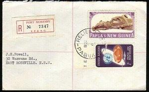PAPUA NEW GUINEA 1966 Reg cover - Relief No.3 cds used Port Moresby........18132