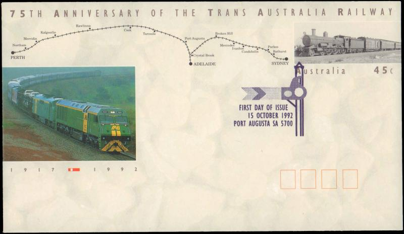 Austria, Worldwide First Day Cover, Trains