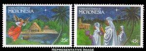 Micronesia Scott 104-105 Mint never hinged.