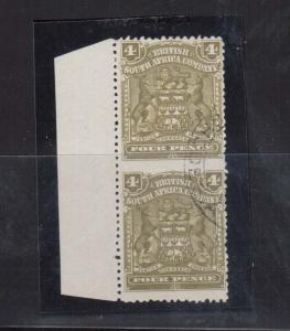Rhodesia #64a (SG #82a) Used Scarce Imperf Pair **With Certificate**