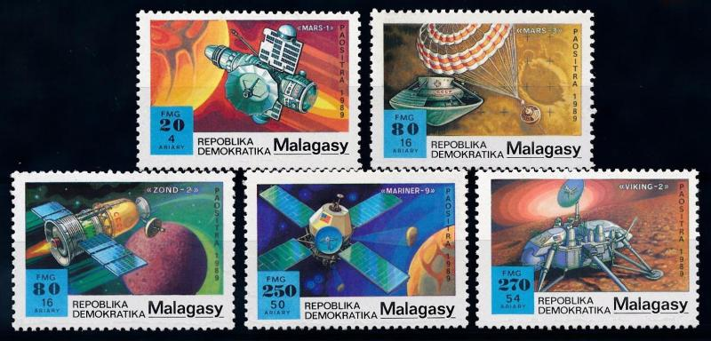 [64452] Madagascar 1989 Space Travel Weltraum Mars  MNH