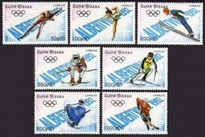 Guinea Bissau 772-778,779,MNH. Olympics,Albertville-92:Hockey,Speed Skating,