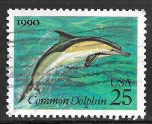 USA 2511: 25c Short-Beaked Common Dolphin (Delphinus delphis), used, VF