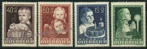 Austria Child Welfare Christmas Set Mi929-32 MNH 42940