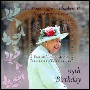HERRICKSTAMP NEW ISSUES VIRGIN ISLANDS QE II 95th Birthday S/S