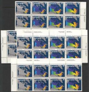 Canada - 1981 Canada Day Imprint Blocks of 8 Each #893a