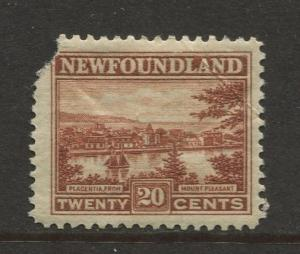 Newfoundland - Scott 143 - Pictorial Definitive - 1923 - MH - Single 20c Stamp
