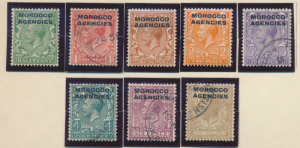 Great Britain, Offices In Morocco Stamps Scott #209 To 216, Mint/Used - Free ...