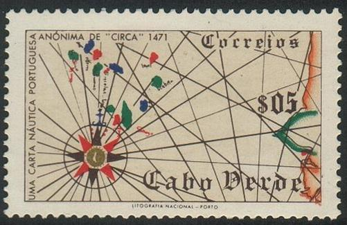 Cape Verde#277 - Map of Cape Verde Islands,1502 - MH