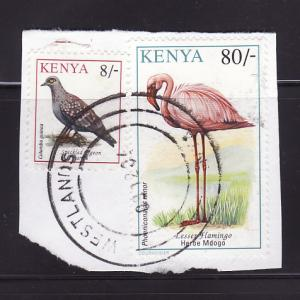 Kenya 603, 608 On Piece U Birds (D)