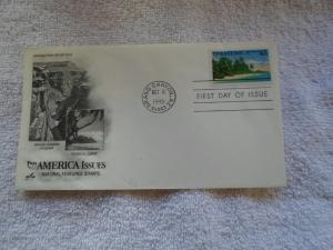 1990 FDC PUAS AMERICA ISSUES NATURAL FEATURES STAMPS