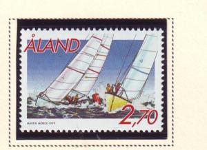 Aland Finland Sc 158 1999 Sailboat Racing stamp mint NH