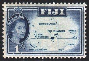 Fiji. 1961. 149 from the series. Fiji Islands Map. MNH.