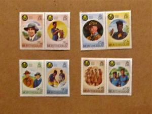 Montserrat - 592-99, MNH Set. 60th Anniv. Girl Guides. SCV - $2.95