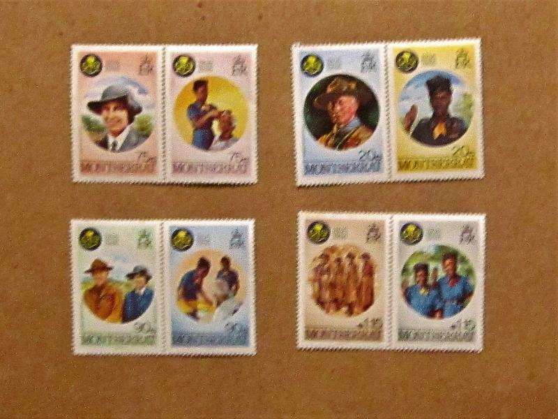 Montserrat - 592-99, MNH Set. 60th Anniv. Girl Guides. SCV - $2.95