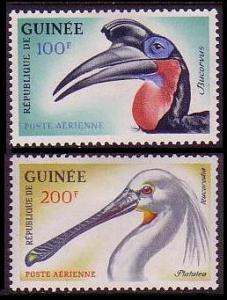 Guinea Birds 2v airmail SG#361-362 MI#161-162
