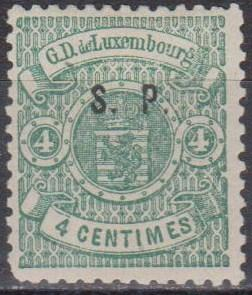 Luxembourg #O41 F-VF Unused CV $210.00 (A13128)