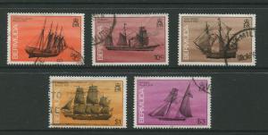 Bermuda #482,485,488,493,495 QEII Used  Scott CV. $15.00