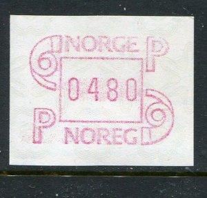 4 Norway ATM (Frama) Labels MNH