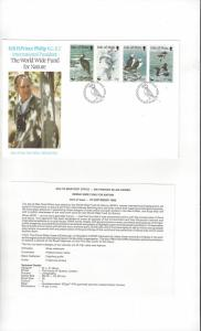 Isle of Man 399-402 World Wide Fund for Nature 1989  Official FDC